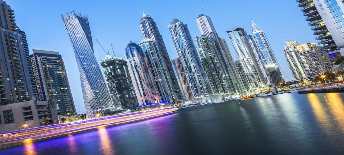 Dubai Marina by night