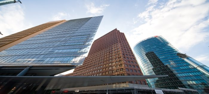 modern buildings at potsdamer platz in Berlin