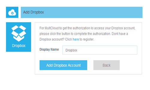 MultCloud-add account