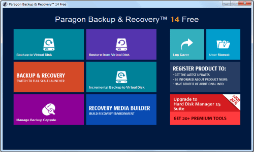Paragon Backup & Recovery Free Edition