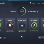 AVG PC TuneUp 2017 dashboard