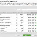 SEO PowerSuite Keywords check