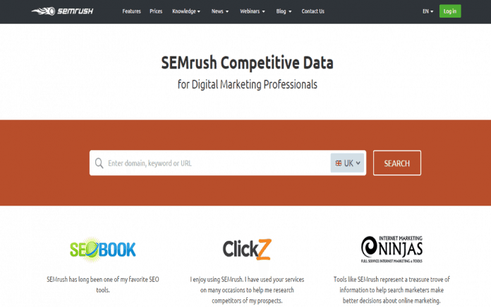 Semrush Comparison Chart 2020