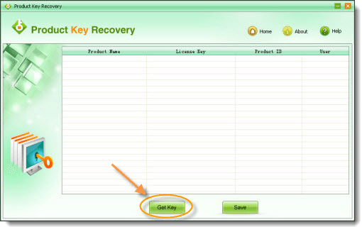 Product Key Recovery retrive key