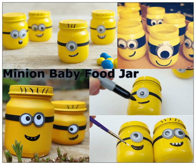 Minion Baby Food Jar