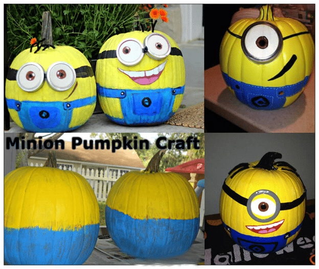 Minion Pumpkin Craft