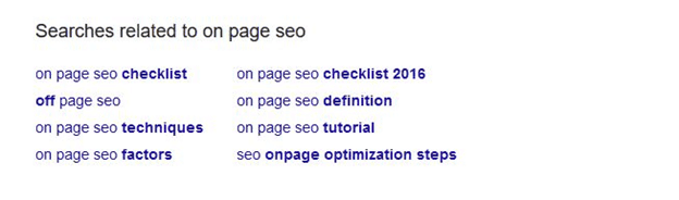 On-Page SEO LSI Keywords