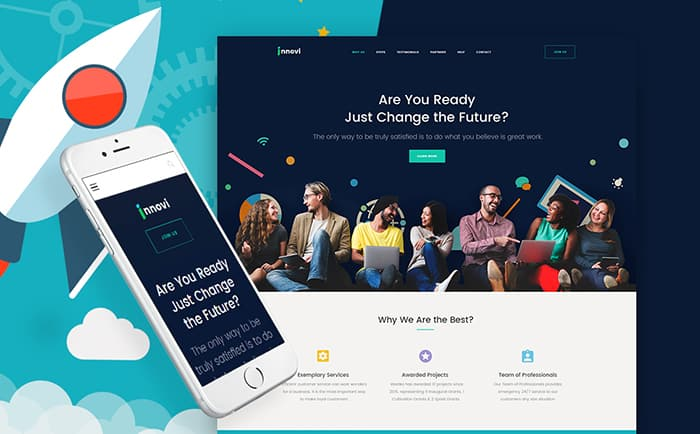 Startup & Creative Digital Agency WordPress Theme