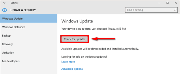 Update Windows
