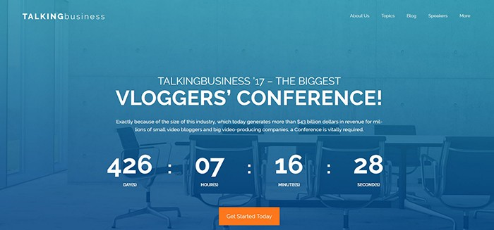 Talking Business - Conference Free WordPress Theme WordPress Theme