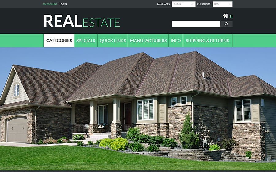 Real Estate Zen Cart Template