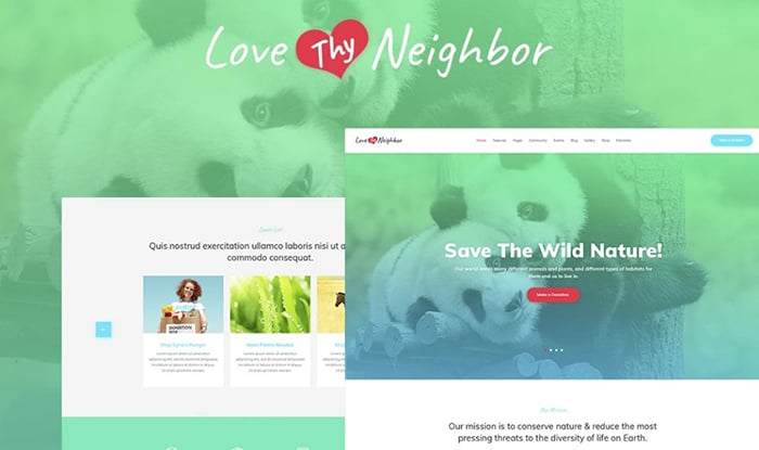 Love Thy Neighbor WordPress Theme