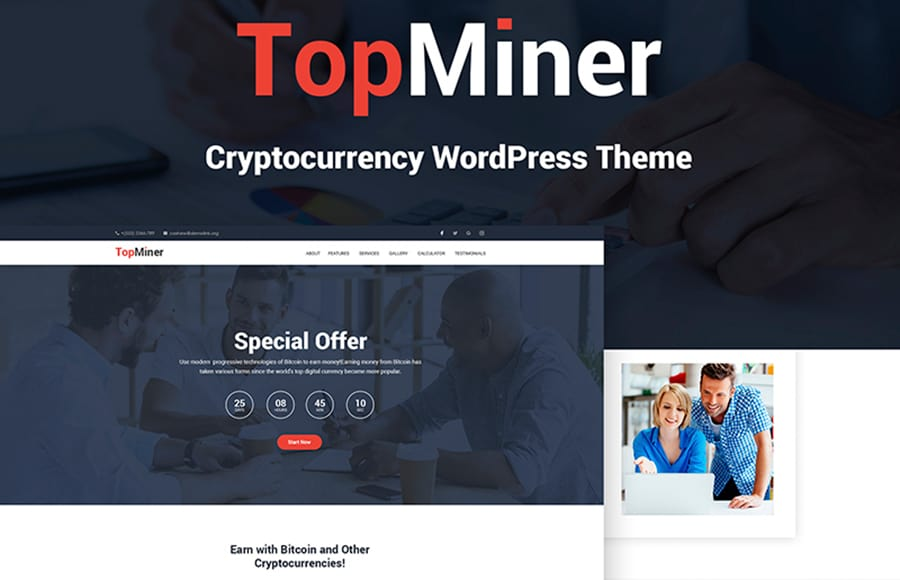 TopMiner - Cryptocurrency WordPress Theme