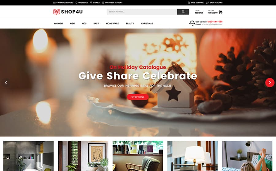 Shop4U - Modern MarketPlace WooCommerce Theme