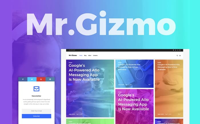 Mr. Gizmo - Technology & Gadgets Blog WordPress Theme