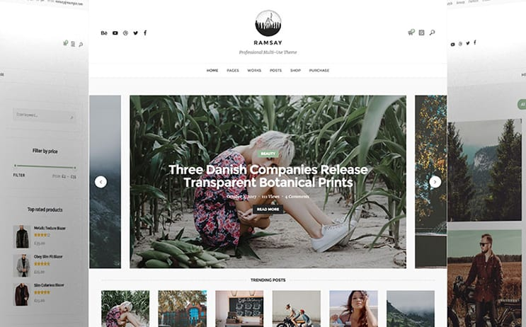 Ramsay - Multi-Conceptual Blog & Portfolio WordPress Theme