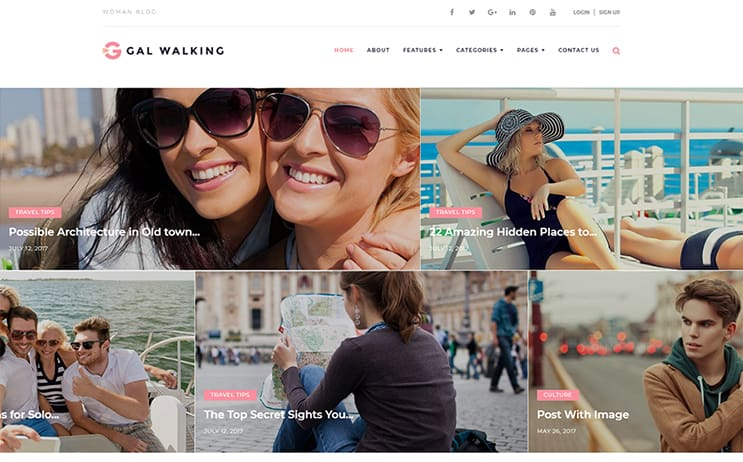 Gal Walking - Woman Travel Blog WordPress Theme