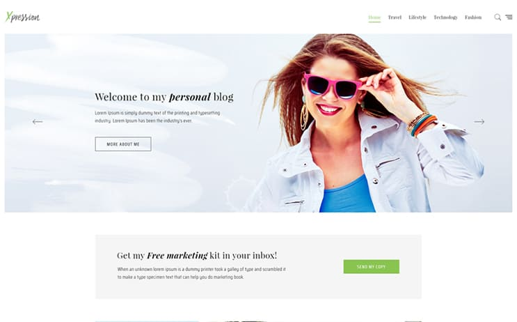 xPression - Minimal Blog WordPress Theme