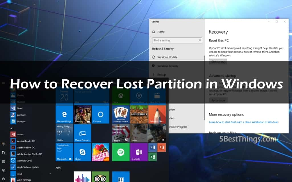 How to Recover Lost Partition in Windows