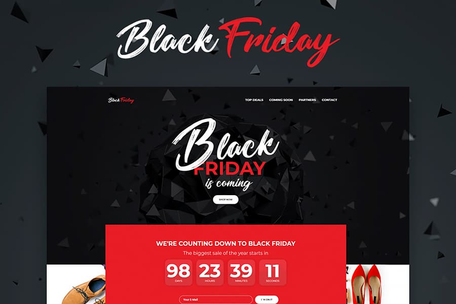 Black Friday - Event Planner Elementor WordPress Theme