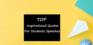 inspirational quotes for students speeches
