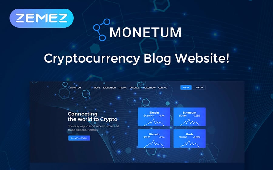 Monetum - Crypcocurrency Investment Elementor WordPress Theme