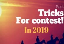 Best tricks winning the online contests