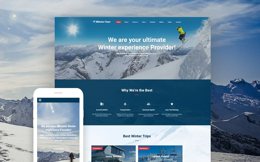 Travel Agency Online Website Template