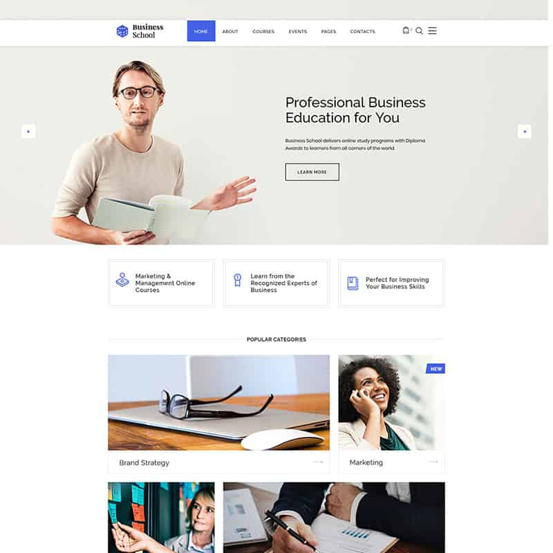E-learning Multipage HTML template