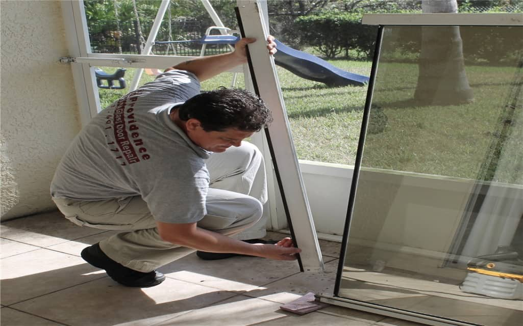 repairing patio door